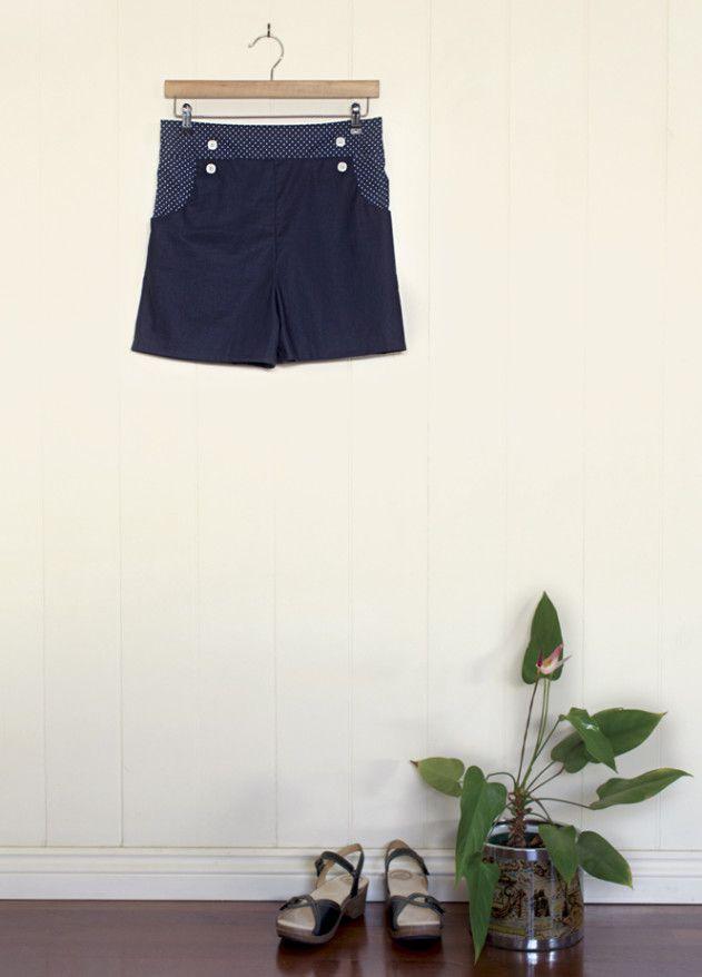 High Waist Shorts - Gratis Schnittmuster | Gratis schnittmuster ...