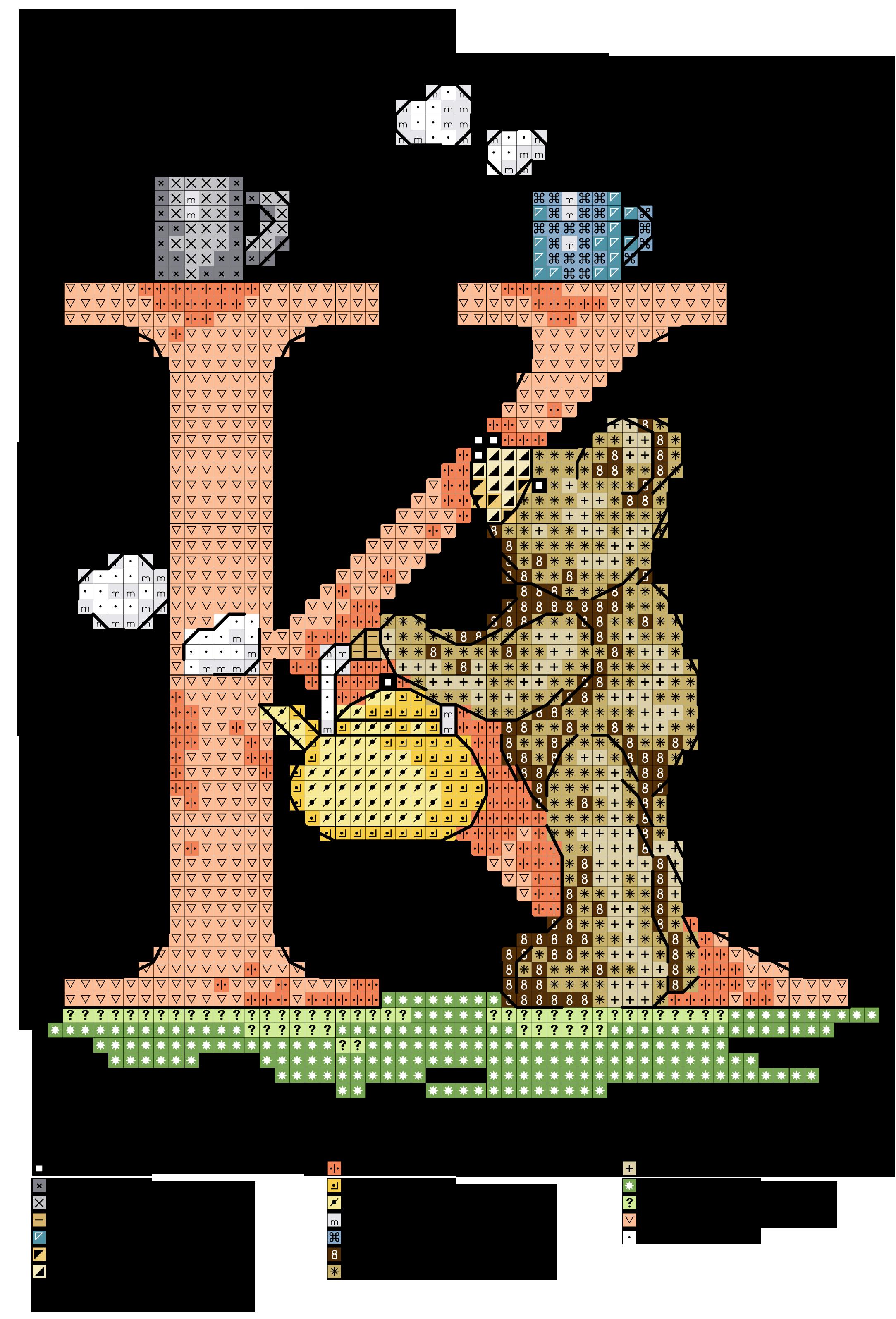 Alfabeto orsetti al lavoro k alfabeti a punto croce for Ricamo punto croce lettere