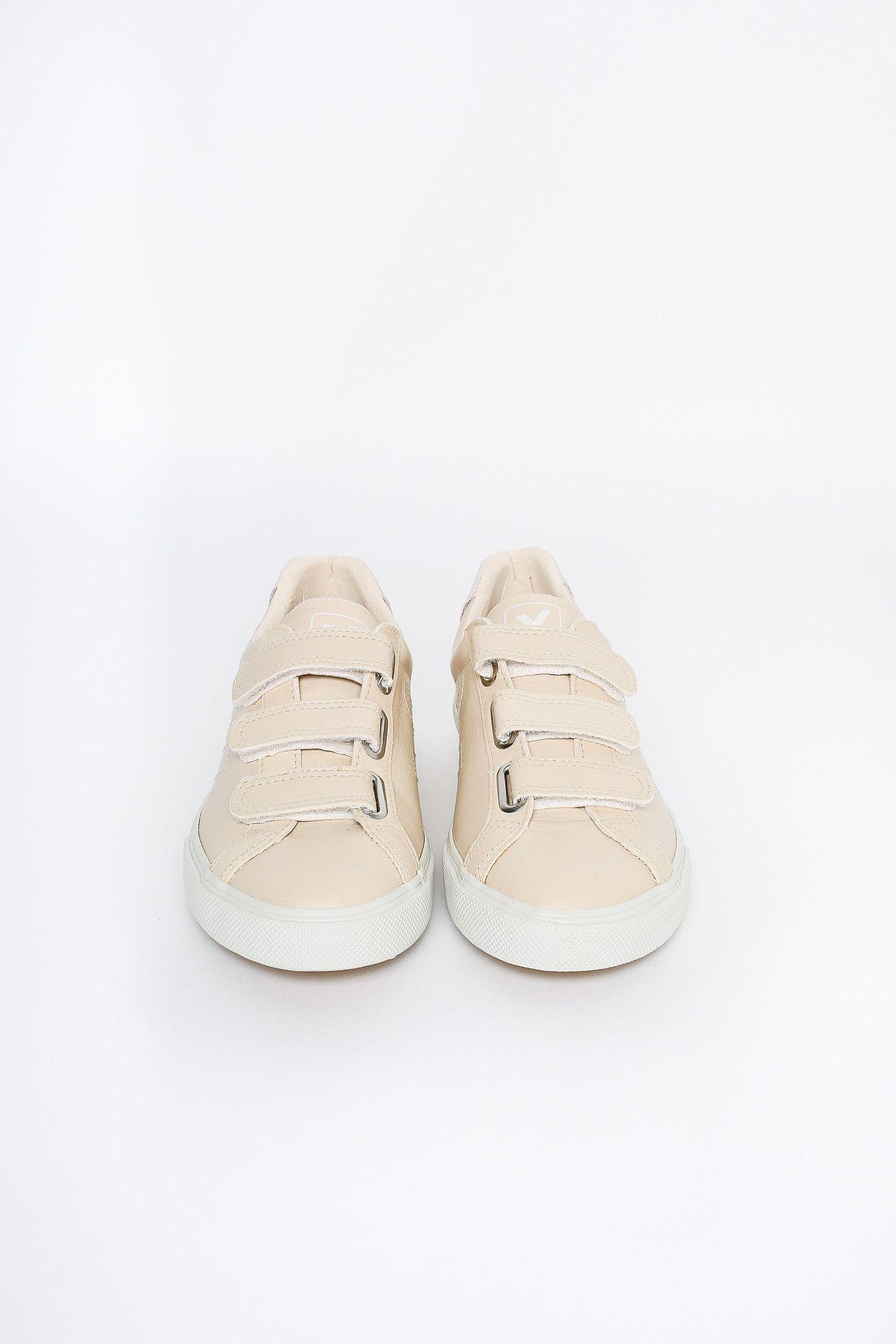 3-lock velcro sneaker in sable pierre