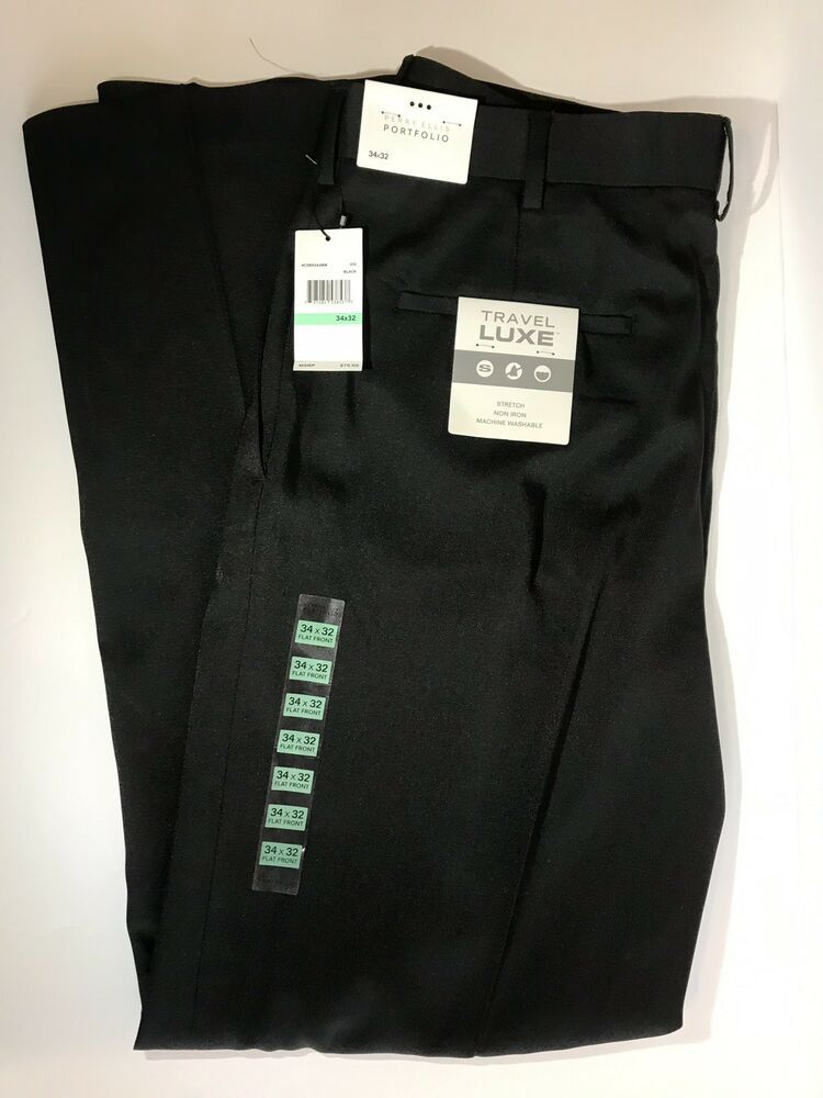 NWT Men/'s Perry Ellis Portfolio Travel Luxe Long Sleeve Button Down Dress Shirt