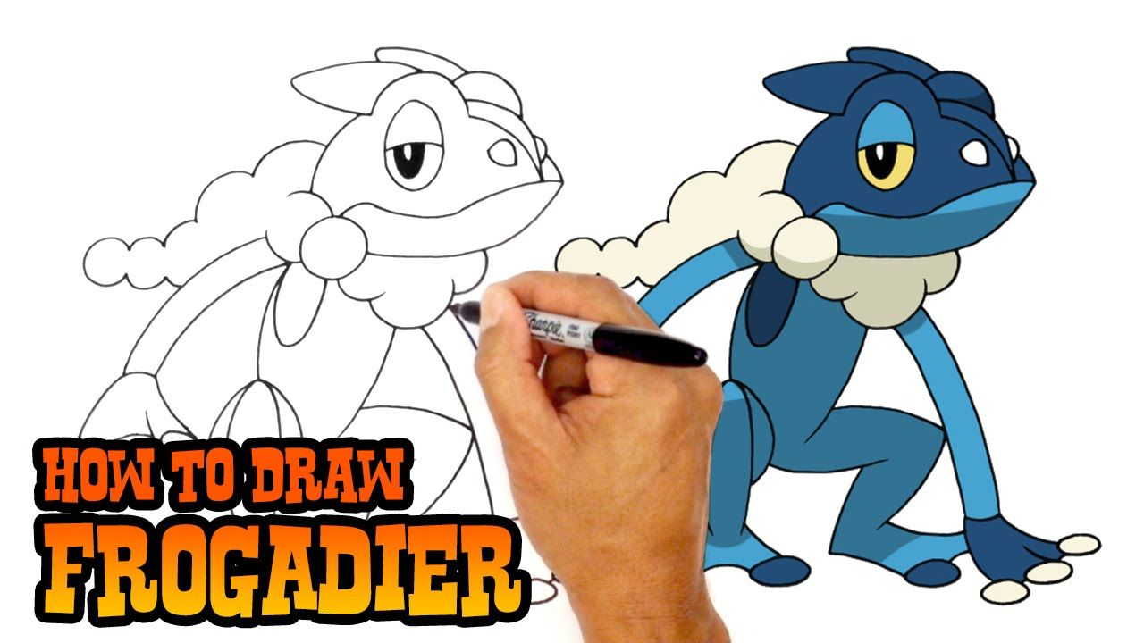 How To Draw Frogadier Pokemon Art Lesson For Kids Pokemon