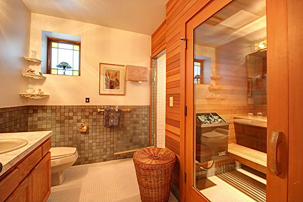 Dry sauna in bathroom. | Dry sauna, Master bedroom bathroom