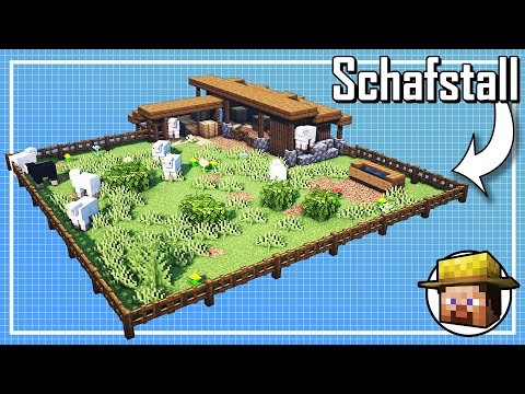 Minecraft Schafstall bauen deutsch 🐑 Schafstall bauen in Minecraft bauen