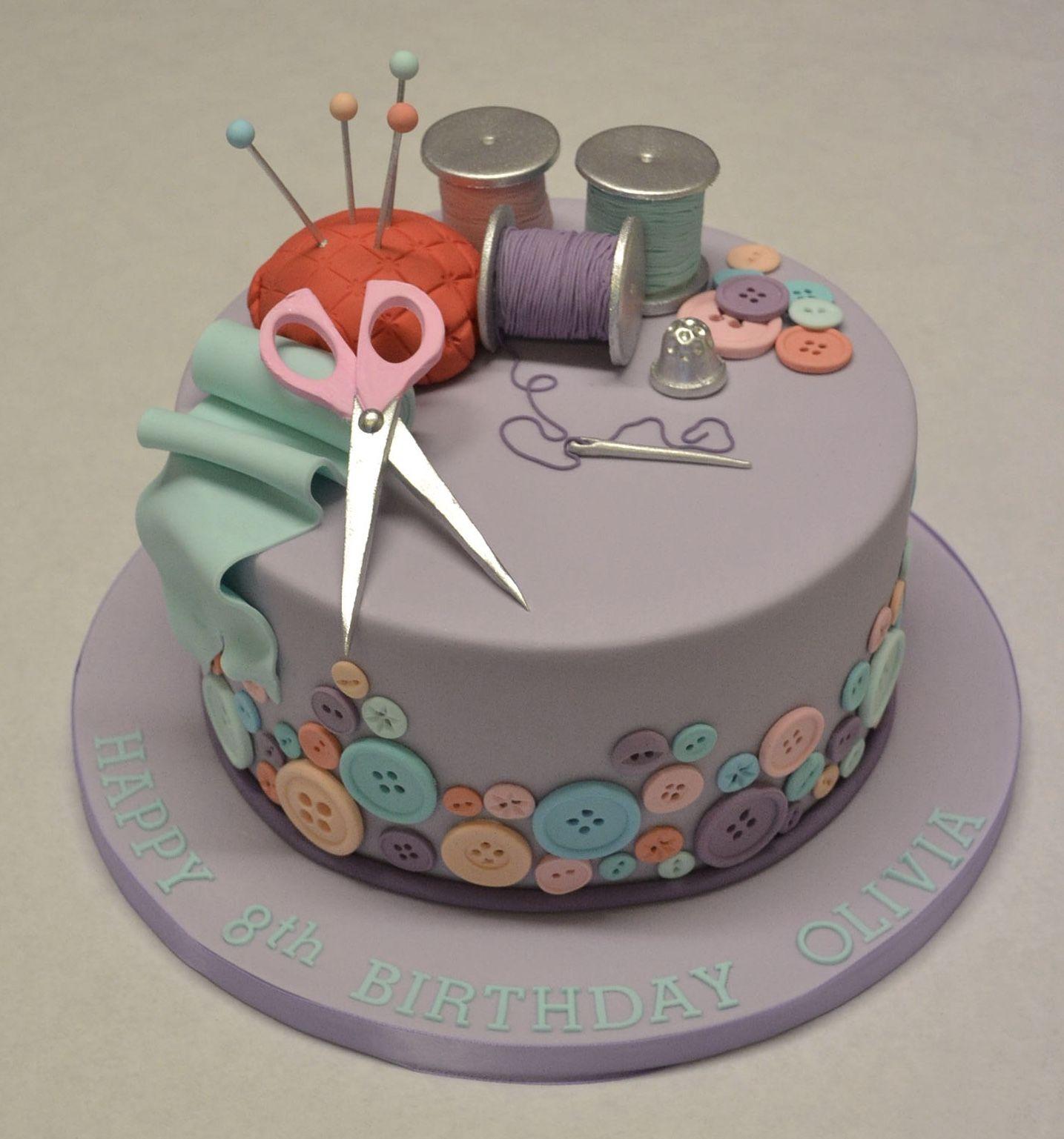 Sewing and Needlework Cake Cake ideas Pinterest Needlework