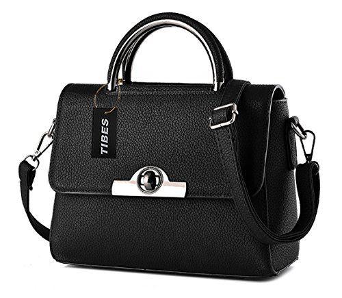 e9b743ae373a Tibes Modern Womens Cross Body Bag Cute Handbag Small Shoulder Bag Black    Want to know more
