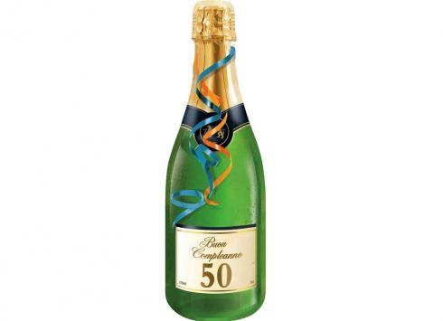 Biglietto Buon Compleanno 50 Biglietto Auguri A Forma Di Bottiglia