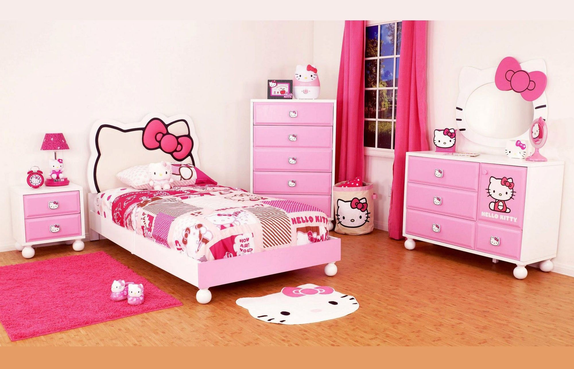 Hello Kitty Bedroom Furniture Set Bedroom Sets Pinterest