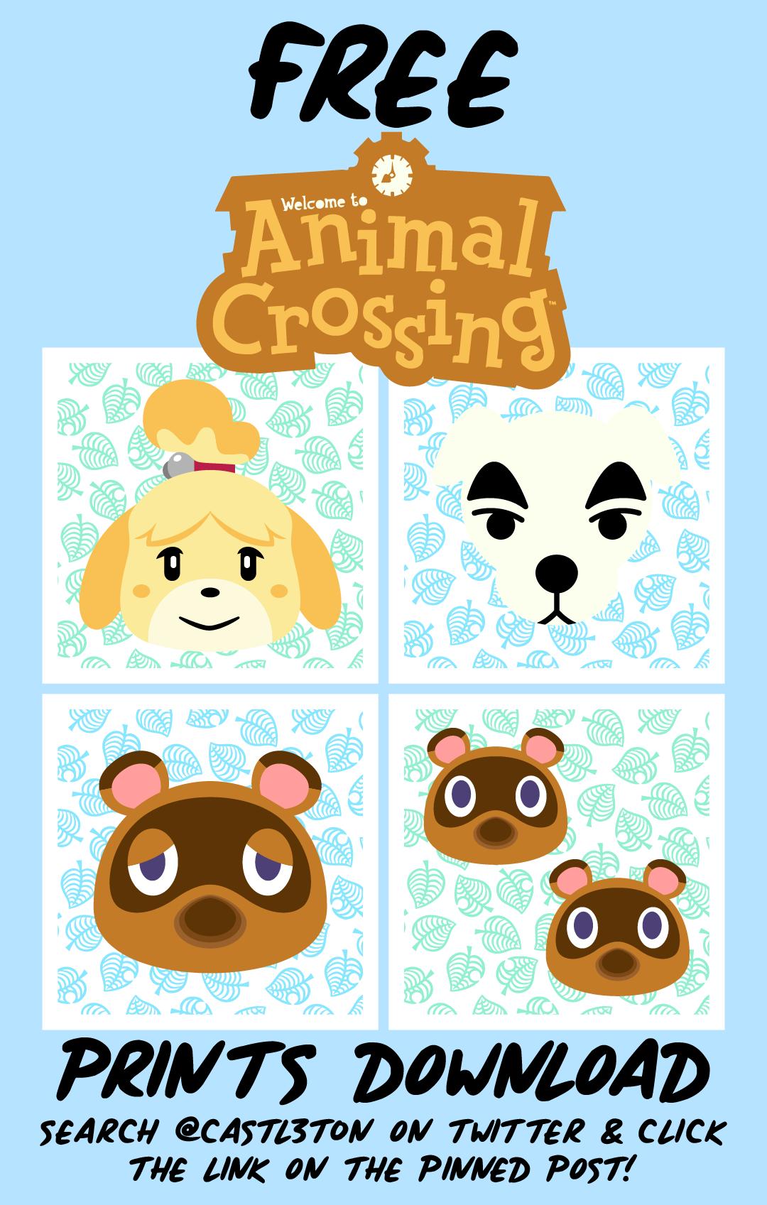 Free Animal Crossing Prints Download Animal Crossing Animal Birthday Animal Crossing Game