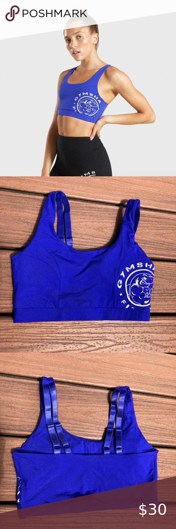 Gymshark Legacy Fitness Sports Bra (Blue) in 2020