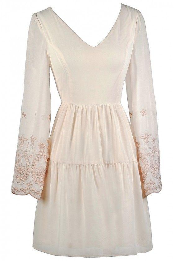 Flowy Cream Boho Dress