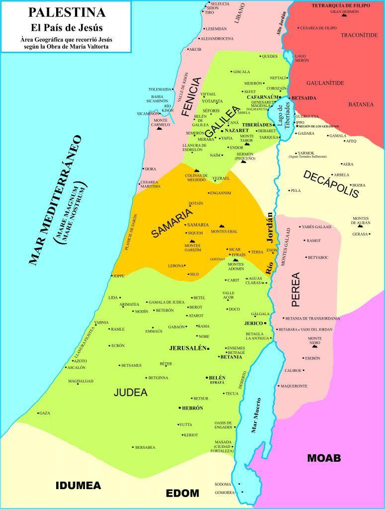 Palestina Geografia Cartina