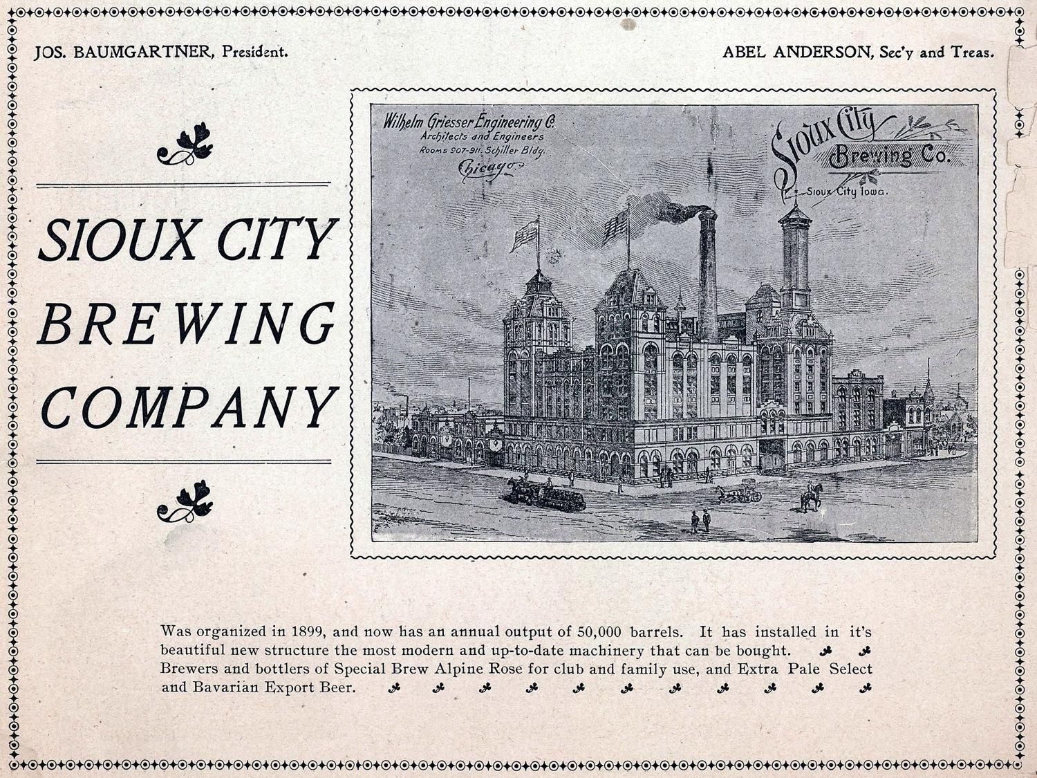 Brew Brief History Of Sioux City Breweries Sioux City Sioux City Iowa Sioux