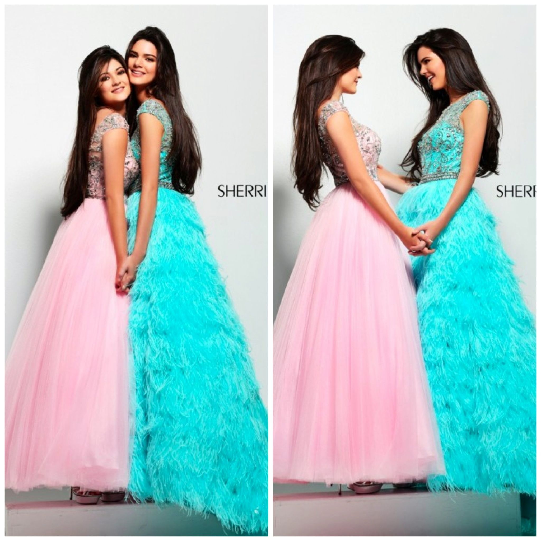 Kendall and Kylie in Sherri Hill prom dresses! Love the sister ...