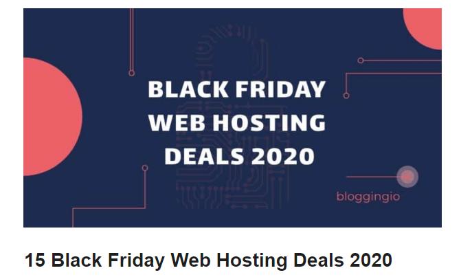 29++ Black friday hosting deals information