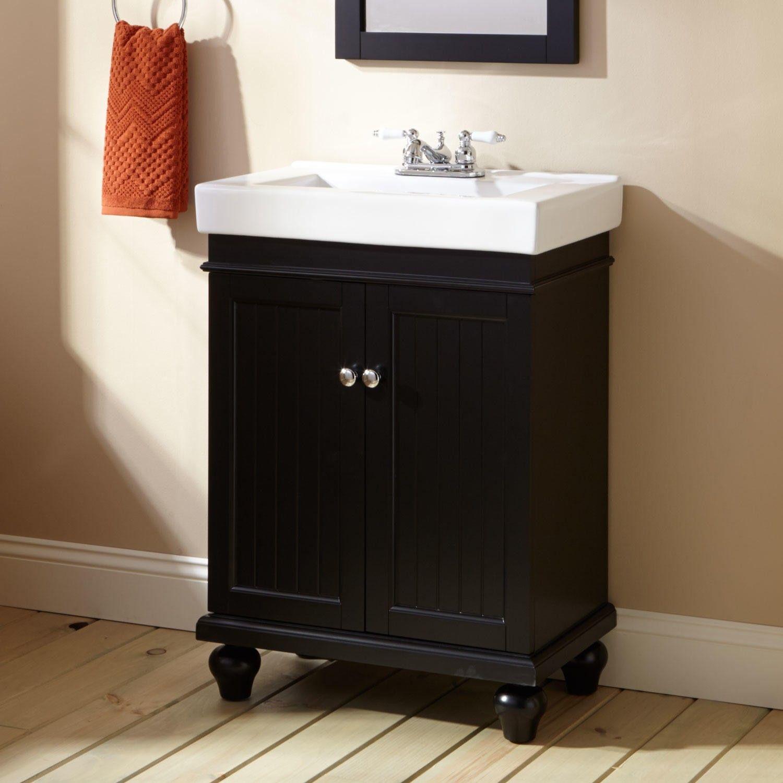 24 Lander Vanity Cabinet Black Bathroom Black Vanity Bathroom Diy Bathroom Vanity Vanity Cabinet [ 1500 x 1500 Pixel ]