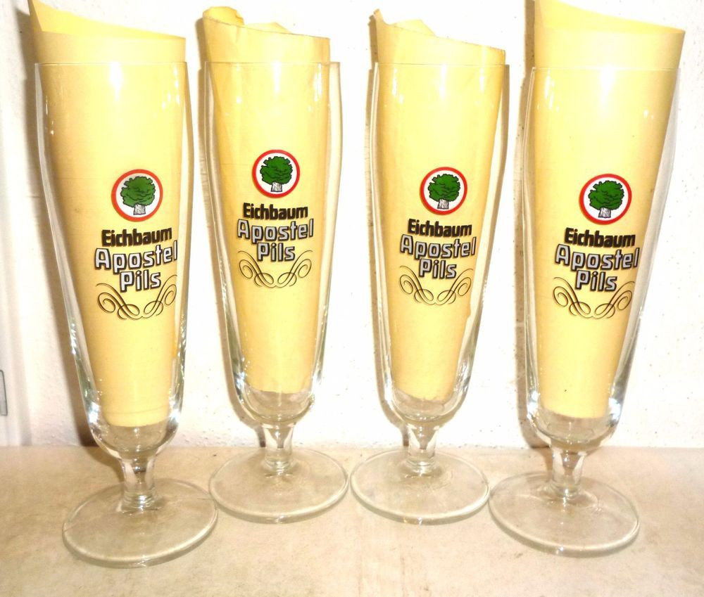 f7389ac51862 4 Eichbaum Apostel Pils Mannheim German Beer Glasses (eBay Link ...