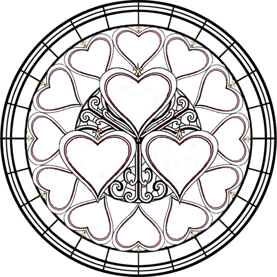 coloring pages stained glass crosses google search line