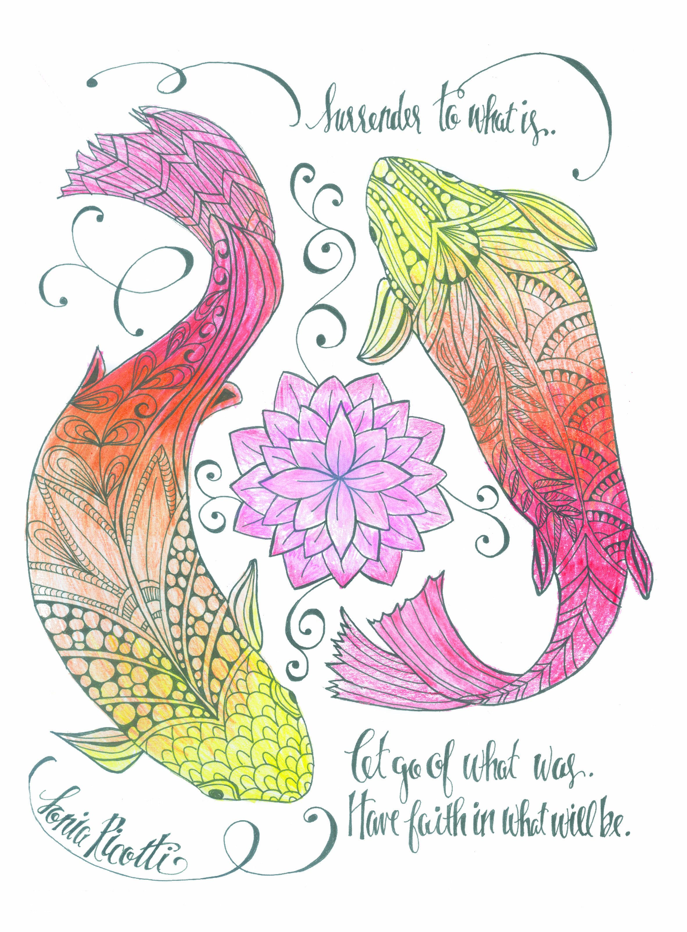 Another Beauty From The Inkspirations For Recovery Coloring Book
