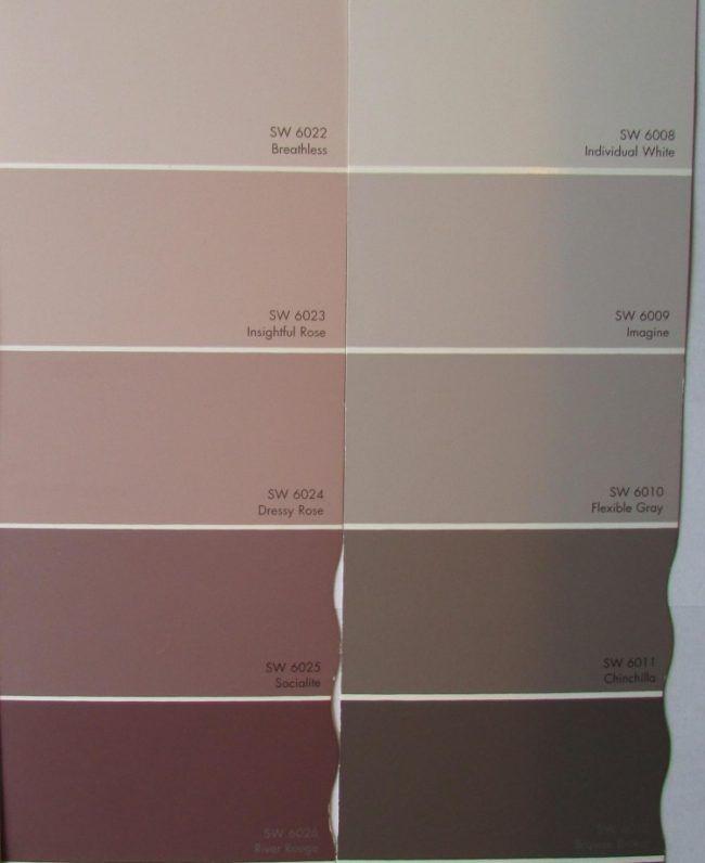 Altrosa Wandfarbe Farbe Nuance Farbpalette Grau Muster Living Room