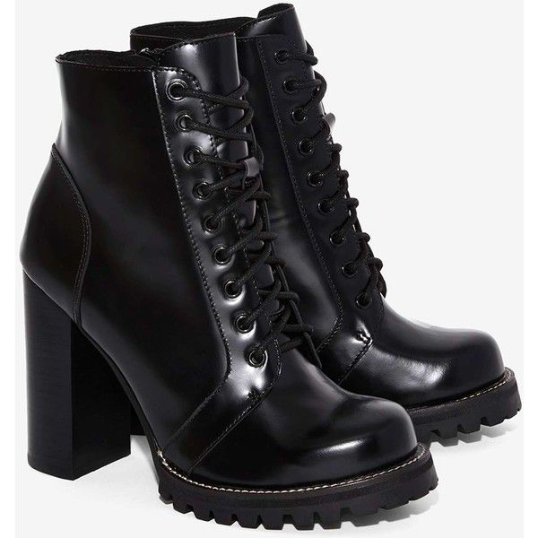 413377a198bc Jeffrey Campbell Legion Box Leather Boot (124.395 CLP) ❤ liked on Polyvore  featuring shoes