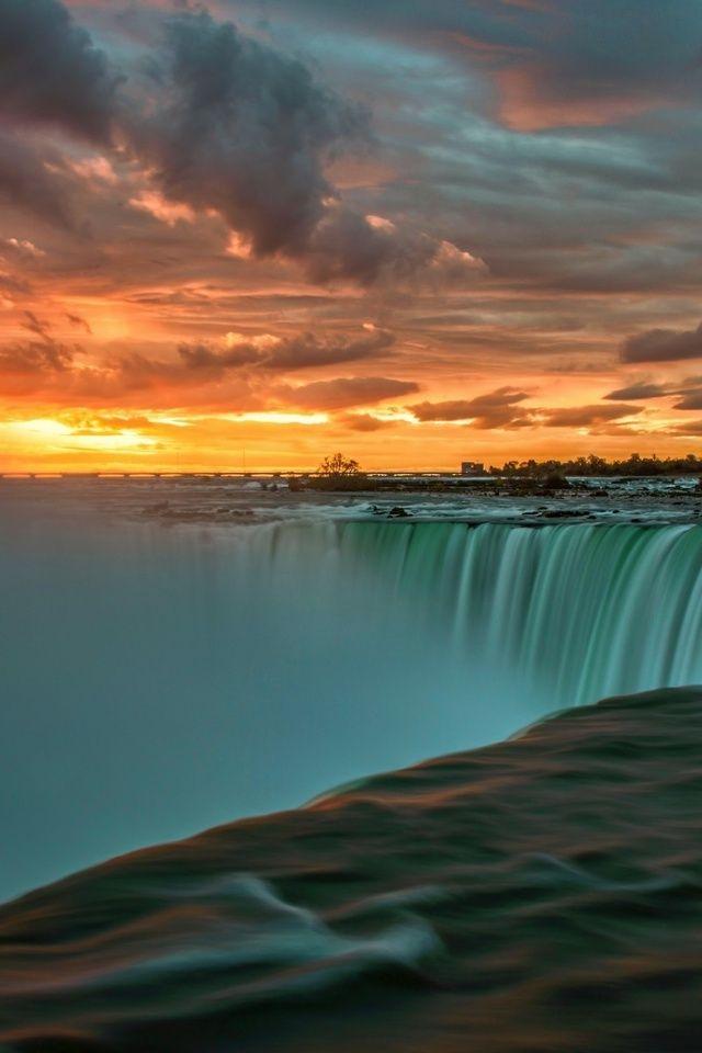 Sunrise At Niagara Falls Ontario Sunrise Wallpaper Niagara