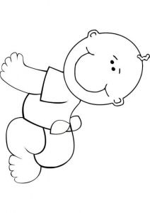 easy baby coloring page free coloring pages for kids pinterest