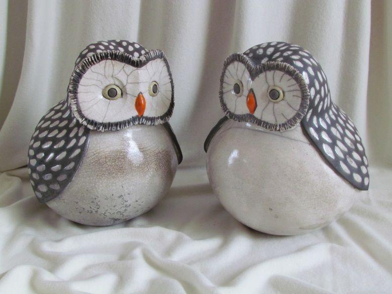 Sculpture raku chouette animaux c ramique gr s dani le meyer inspiration poterie poterie - Dessin de chouette facile ...