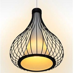 Unique Pendant Lighting Bird Cage Light Modern Rustic Dining Room