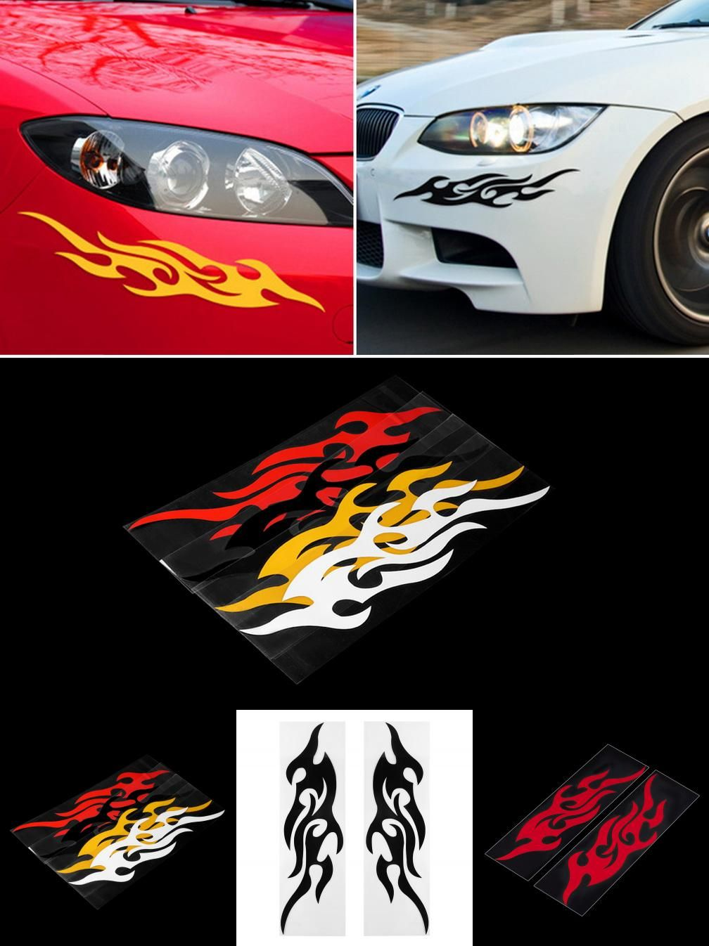 Visit To Buy Universal Car Sticker Styling Engine Hood Motorcycle - Custom vinyl decals covering for motorcycles