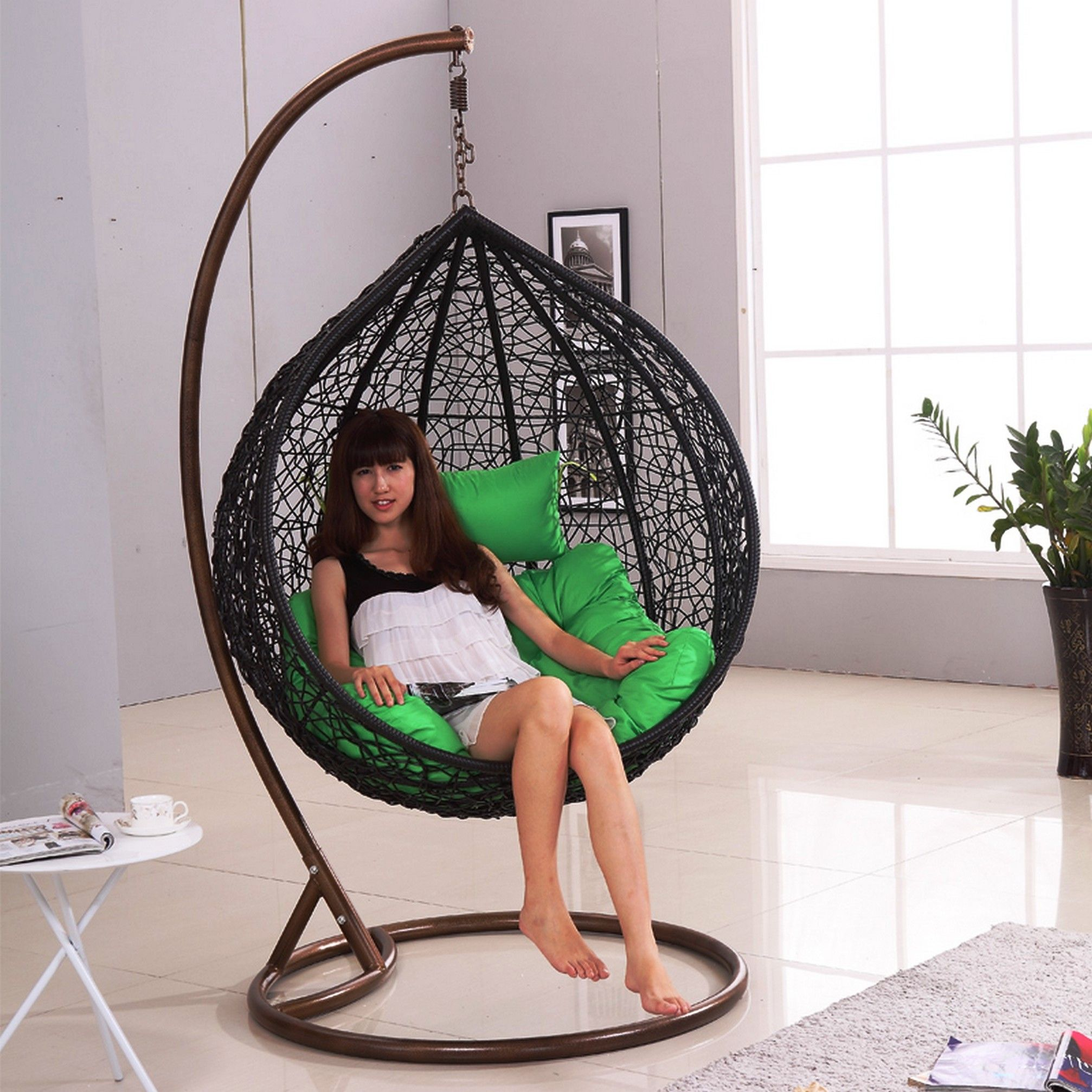 Image result for hanging wicker chair Indoor hammock bed