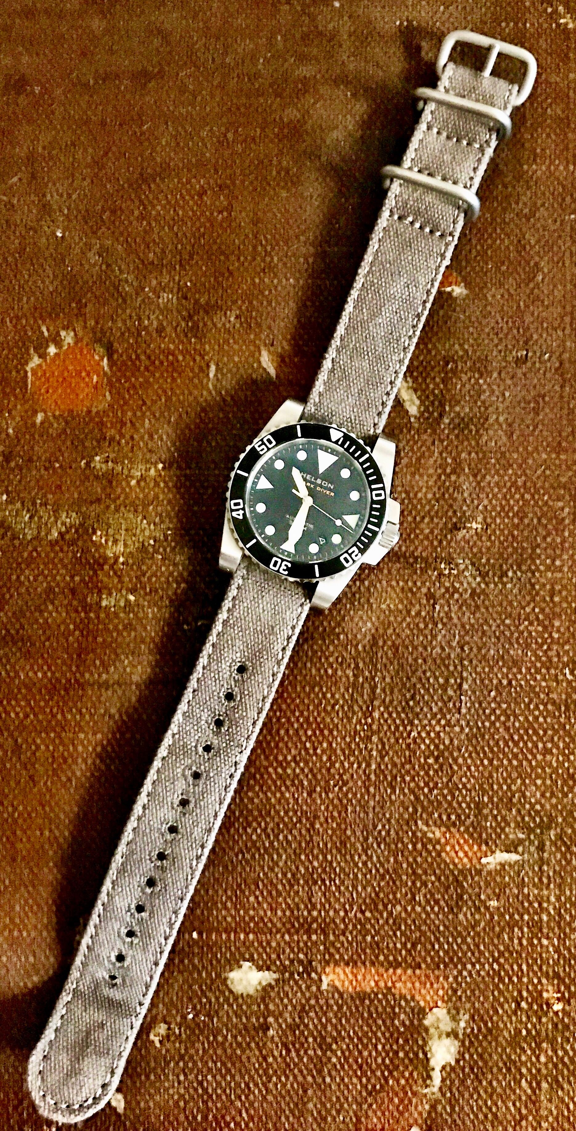 watches watch strap military pin on seiko zulu demo canvas miltat green tuna