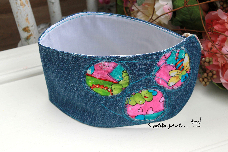 Bavoir bandeau insecte, foulard pour bébé et enfant, foulard pour  trachéostomie, collet enfant, éco-responsable de la boutique 3petitspoints  sur Etsy dca8687169e
