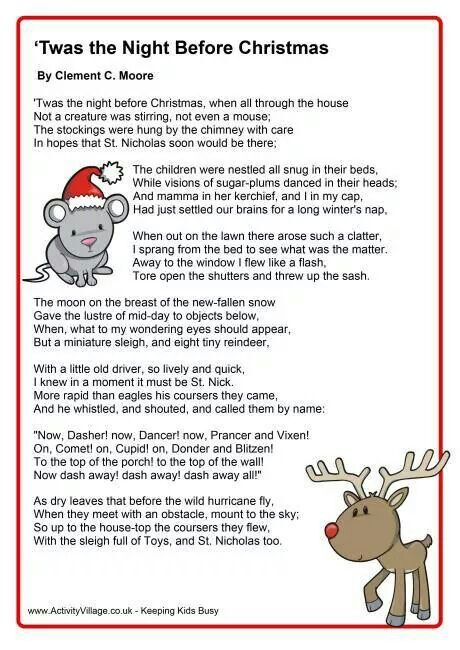 Twas The Night Before Christmas Christmas Poems Funny