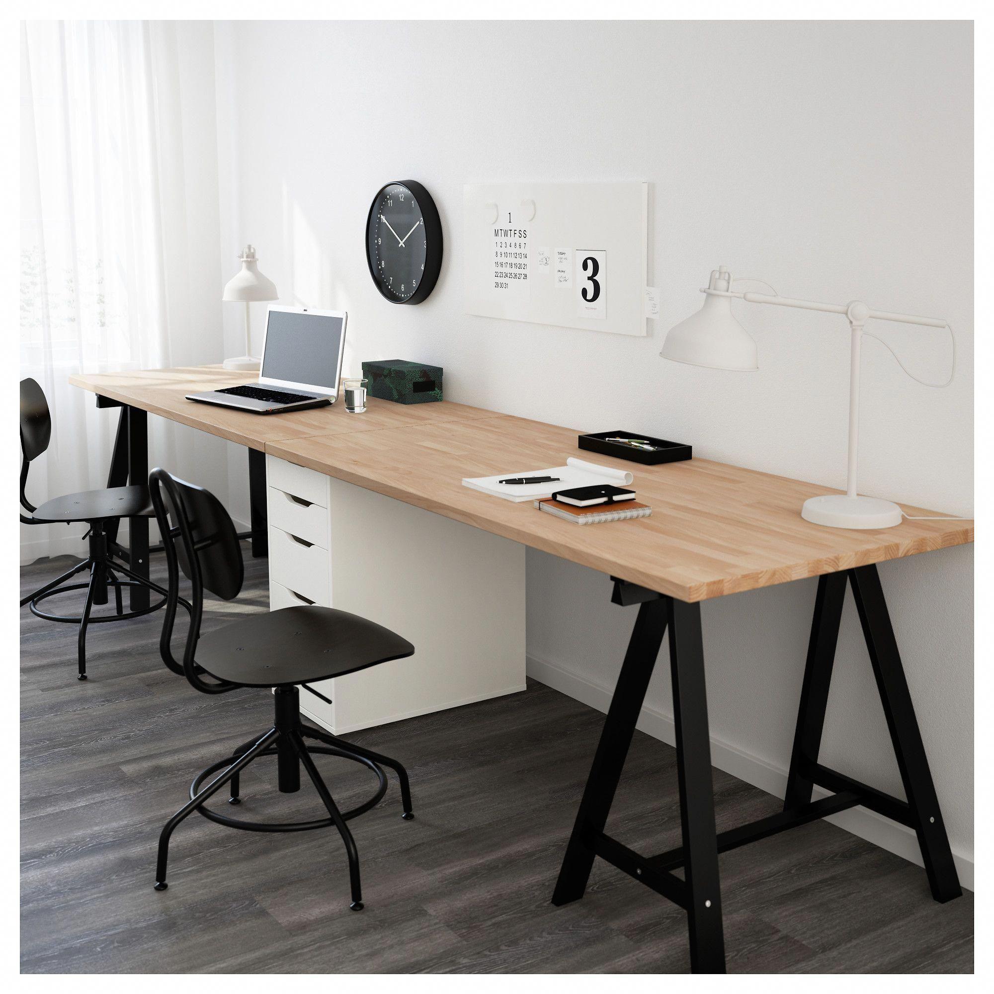 Ikea Gerton Alex Table Beech Black White Homeofficeideas