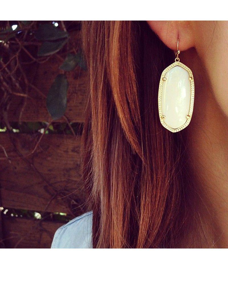 Elle Earrings In White Pearl Kendra Scott Jewelry