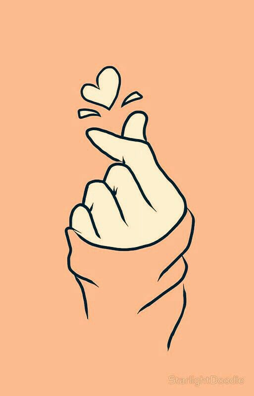 Hold Your Heart Orange Cute Wallpaper Backgrounds Instagram