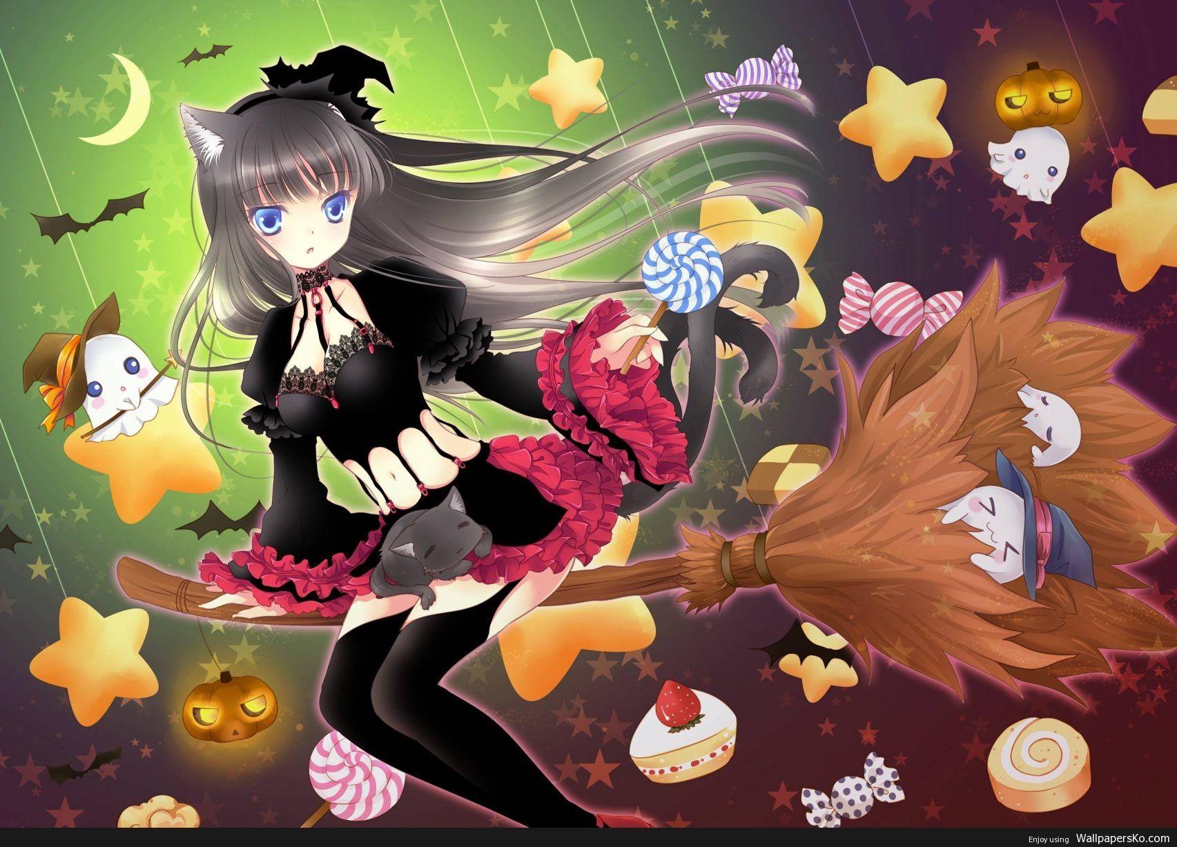 Anime Halloween Wallpaper Hd Http Wallpapersko Com Anime Halloween Wallpaper Hd Html Hd Wallpapers Downloa Anime Halloween Witch Wallpaper Anime Wallpaper Halloween anime wallpaper hd