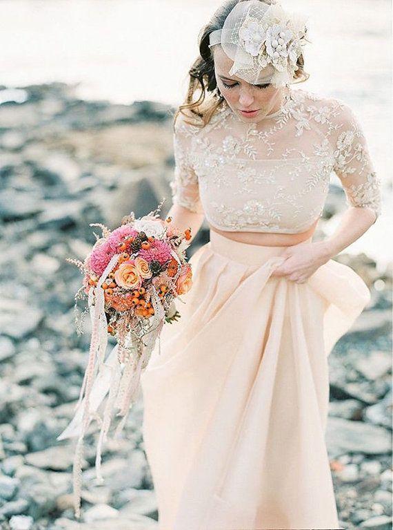 Zweiteilige Hochzeit  Prom Kleid von MyMollDesign auf Etsy  Hochzeit  Brautkleid