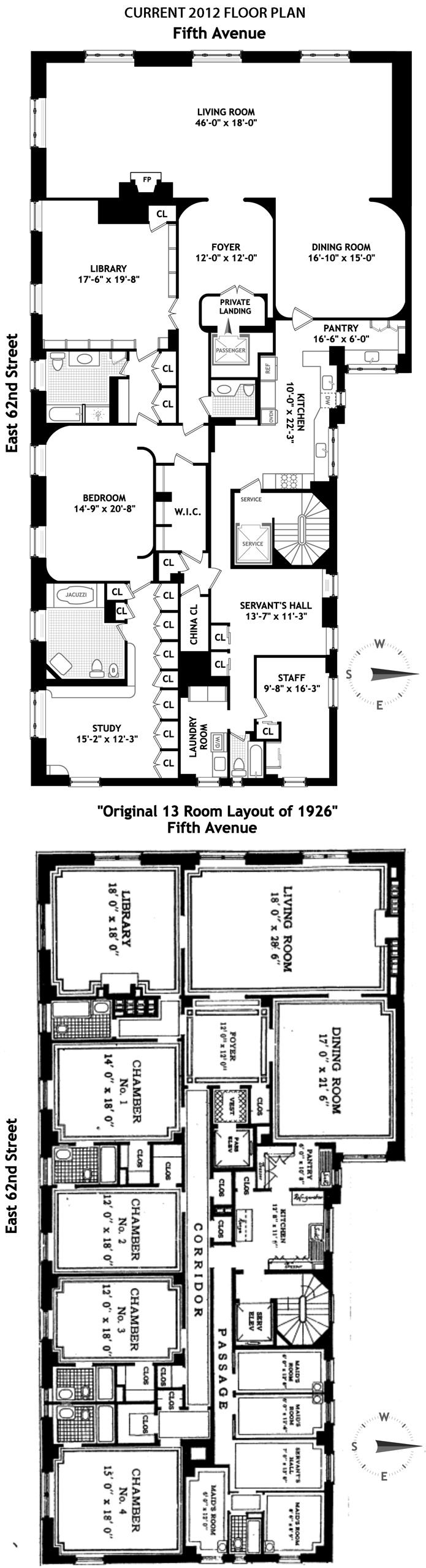 Brown Harris Stevens Luxury Residential Real Estate 810 FIFTH – 820 Fifth Avenue Floor Plan