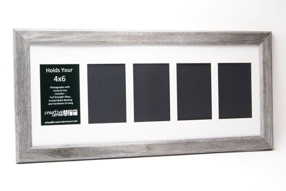 10x36 Driftwood Picture Frame To Fill With Sand For Place Cards Picture Frames Frame White Molding