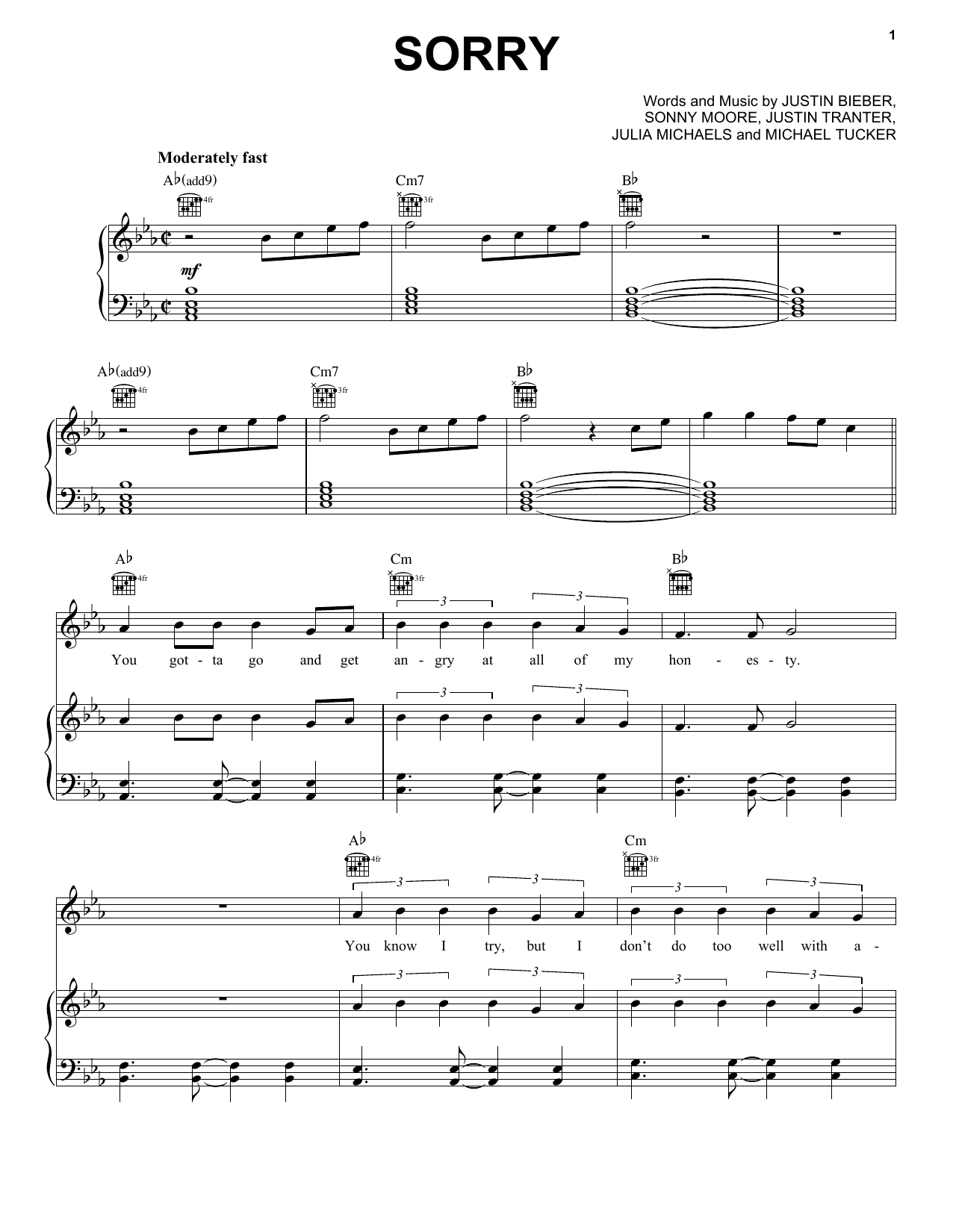 Ariana grande almost is never enough sheet music for piano best sorry for voice and piano or guitar by justin bieber julia michaels justin tranter sonny moore michael tucker hexwebz Image collections
