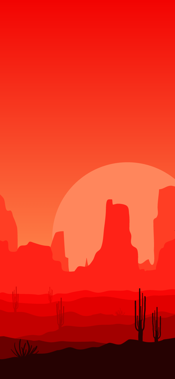 Free Minimalist Red Landscape Iphone Wallpaper This Design Is