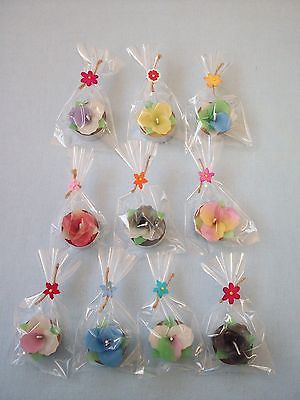10 #handmade mixed #scented flower #candles tea light in gift wrap,  View more on the LINK: http://www.zeppy.io/product/gb/2/331555509180/