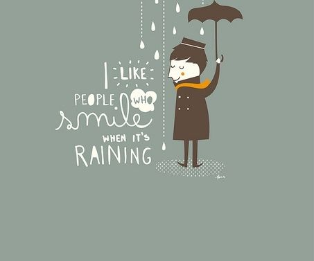 Lovely Love The Rain.and People That Love Rain.we Smile