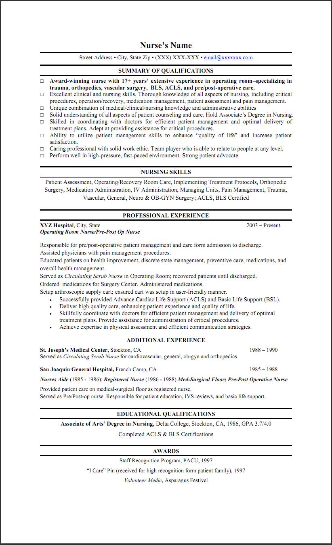 Sample Objective Resume For Nursing Http Www