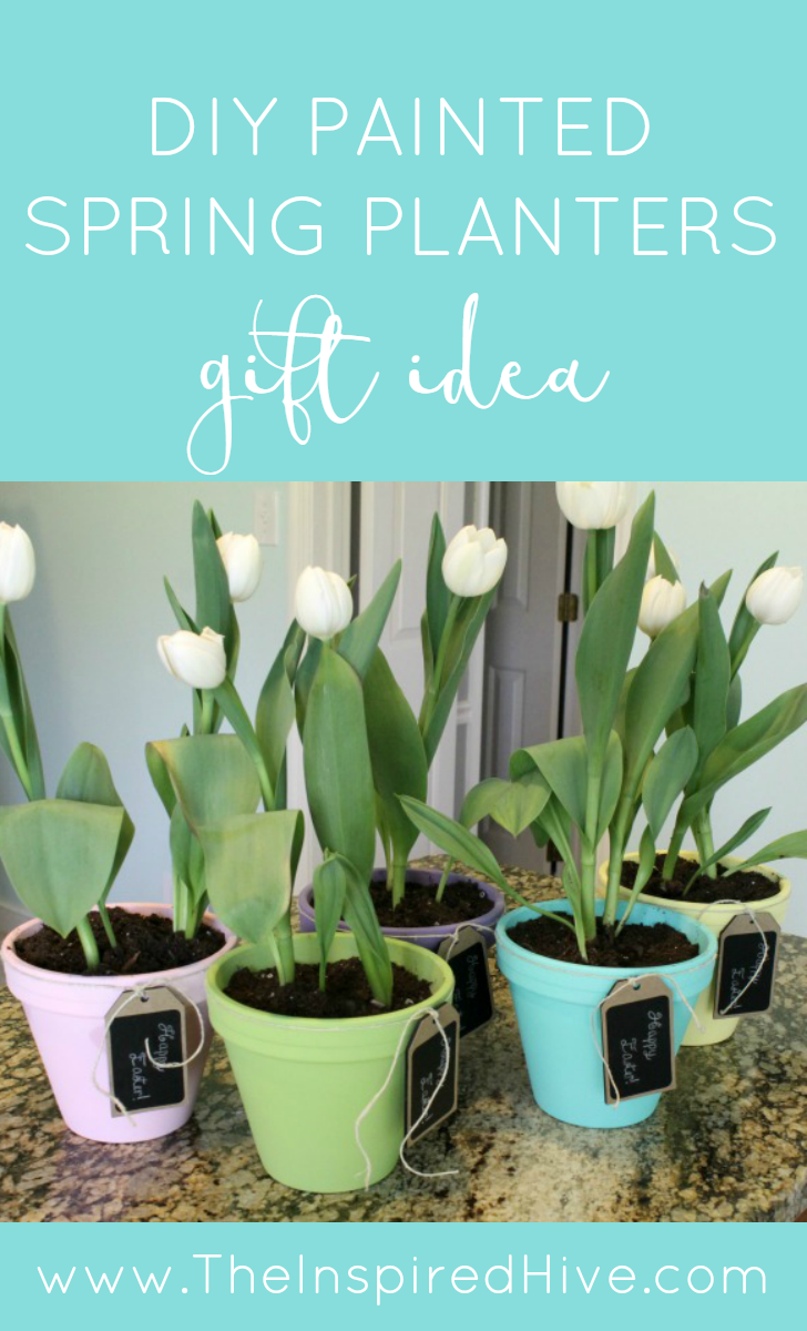 Spring tulip planters easter crafts planters and easter diy painted spring planters an easy easter craft and great gift idea negle Gallery