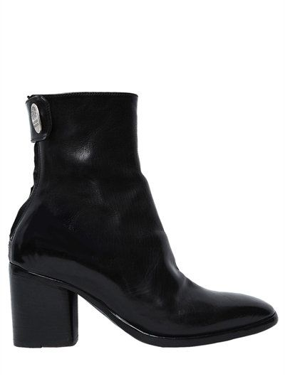 ALBERTO FASCIANI 70Mm Leather Ankle Boots, Black. #albertofasciani #shoes # boots