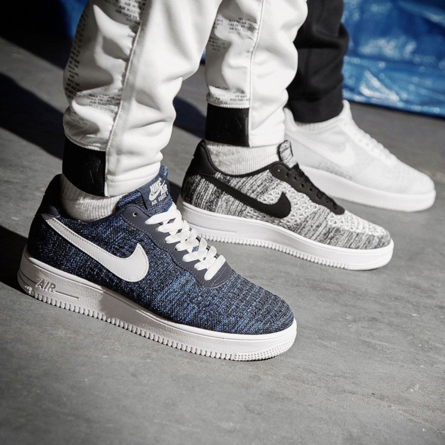 sneakers air force 1 flyknit 2.0 noir et blanc