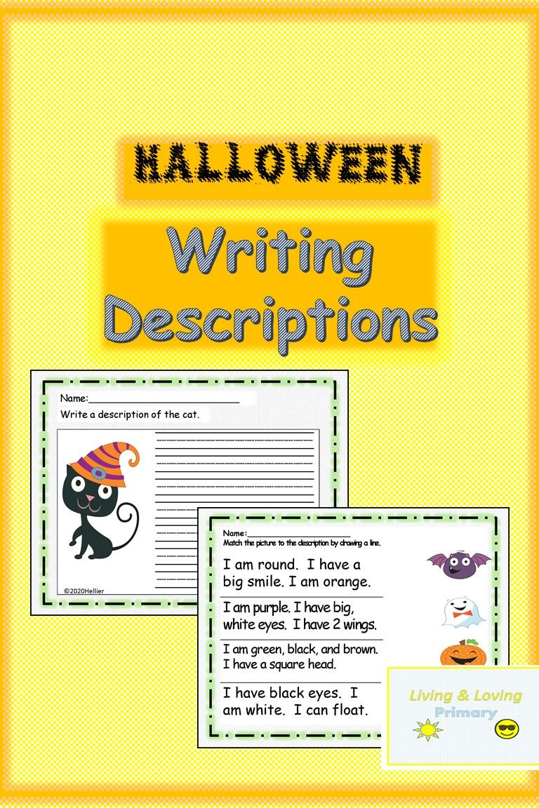 The Students Start By Matching Descriptions Of Cute Halloween Characters To The Character Then They Wri Halloween Writing Primary Writing Descriptive Writing [ 1152 x 768 Pixel ]