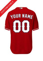 Texas Rangers Kids Custom Jersey - Red Texas Rangers Apparel ad0e02cbb